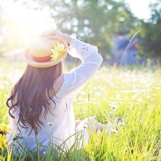 写真:女の子帽子