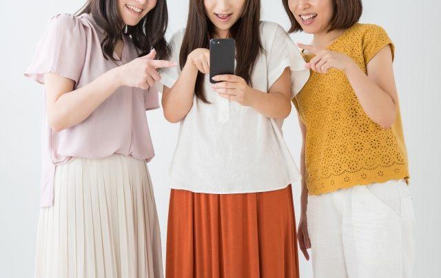 写真:女子3人
